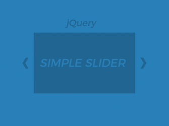 How to create simple slider with jQuery